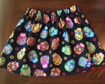 Girls Fiesta Skulls Skirt