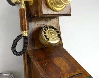 old vintage wall phone