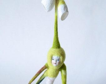 Mandrake, felted wool, curiosity cabinet, oddity