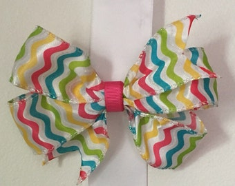Colorful Hair Bow/Pink/Yellow/Blue/Green