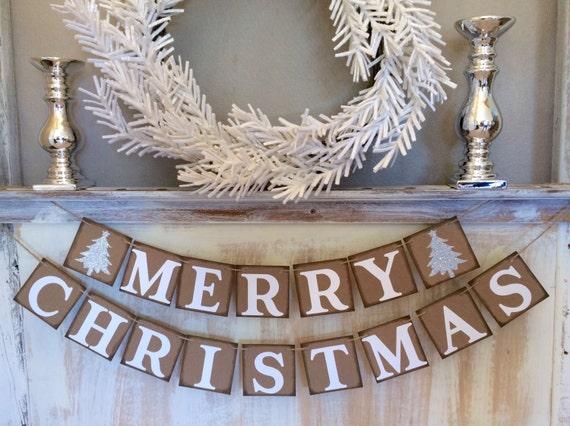Christmas Banner,Merry Christmas Garland,White Christmas Decor,Christmas Photo Prop,Christmas Decor,Christmas Decoration, Christmas Sign,
