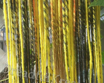 Reduced Price* Zapdos themed double ended dreads