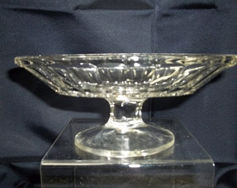 Oval Pedestal Footed Relish Candy Nut Dish - Vintage Item #2811 ON SALE NOW!!