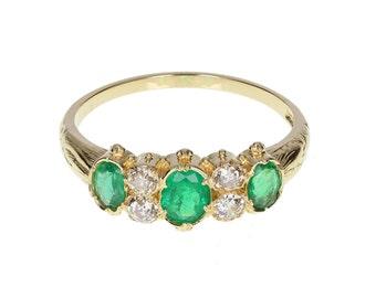 Antique Emerald and Diamond Ring