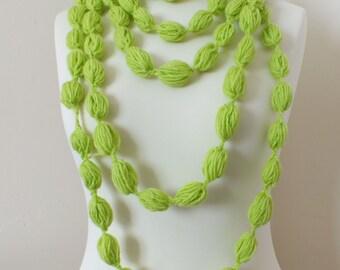 Crochet Bubble Scarf / Necklace
