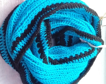 Beautiful handknit infinite scarves; multicolor; free shipping