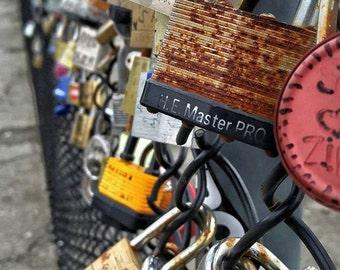 Love Locks  (Photo taken in New Westminster B.C, Canada)