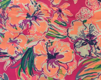 TIPPING POINT Magenta Flower fabric 5x5 inches