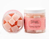 PINK CHIFFON | Exfoliating Sugar Cubes | Shea | Mango | Cocoa | Avocado Oil | The Graceful Rabbit