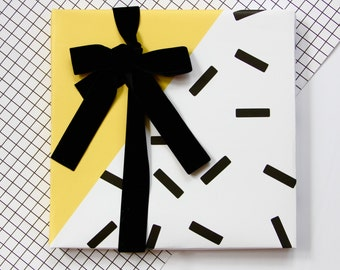 Yellow Memphis Sprinkles Gift Wrap