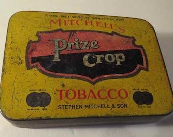 Vintage Mitchells Prize Crop Tobacco pocket tin