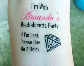 Bachelorette Party Tattoo (set of 12!)