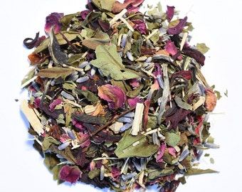 PINK PEONY | White Tea | Organic | Artisan Blend | Loose Leaf | Tea Bags | Tea Tin | Iced Tea | Eco-Friendly