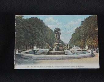 Vintage tinted postcard of Paris.
