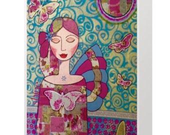 BLANK CARD 'Shine' ~ mixed media artwork by Amanda Stelcova