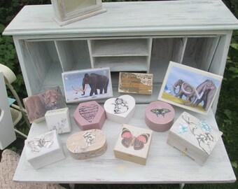 Woolly Mammoth Wooden Box