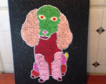 Funky Poodle Dot Painting
