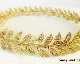 Gold Leaves, Bohemian, Goddess, Headpiece