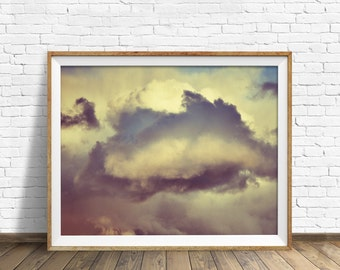 "cloud photography, cloud art, instant download, printable art, large art, large wall art, printable wall art, clouds, print - ""Passing By"""