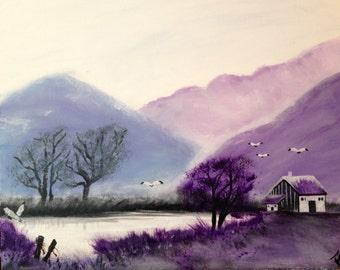 Serendity-  purple mountain scene