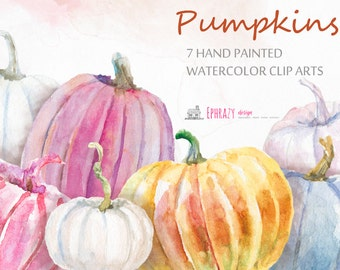 30% OFF AND MORE. Pumpkins clipart. Watercolor clipart. Fall clipart. Autumn clipart. Pumpkins clip art. Pumpkin. Watercolor pumpkins.