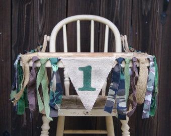 High Chair Banner, Camo Birthday, Army Birthday, 1st Birthday, First Birthday,Boy Birthday, Camo Banner, Army Banner, Photo Prop