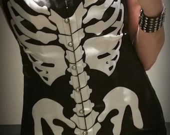 Black Skeletal Corset