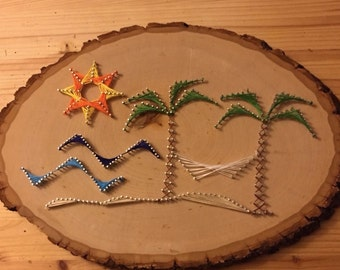 Beach String Art