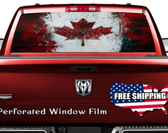 Canada Decal Etsy - Rear window decals for trucks canada