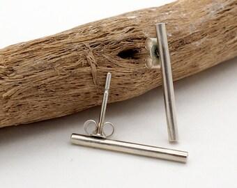 Minimal Earrings-Silver