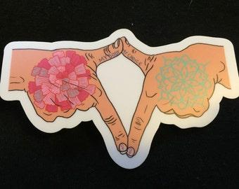 My Body My Choice Vagina Sign Sticker