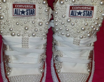 Pearly White Converse