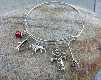 Wizard of Oz Adjustable Charm Bracelet