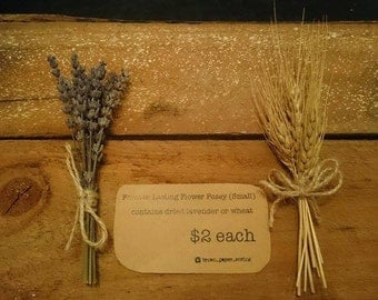 Dried Flower Posey - Presents, Table Settings, Buttonholes