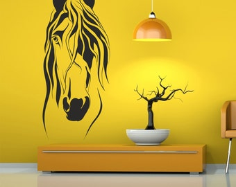 Horse head wall decal, Horse Decal, Horse Decor, Horse Art, Horse Wall Decals, Animals Interior Design Home Decor,Animals Wall Decals  199