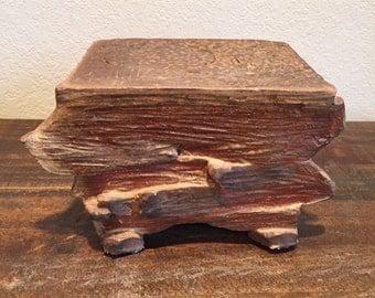 Wood fired ceramic trivit