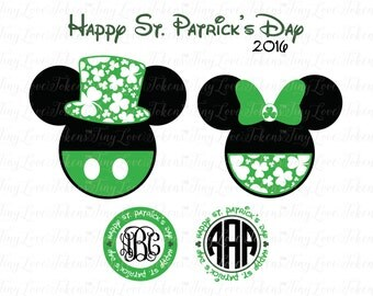 Disney Shamrock SVG Design for Silhouette and other craft cutters (.svg/.dxf/.eps/.pdf)