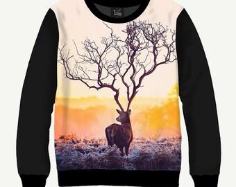 Amazing Deer - Men's Women's Sweatshirt | Sweater - XS, S, M, L, XL, 2XL, 3XL, 4XL, 5XL