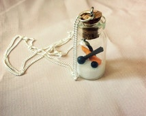 Melted snowman necklace