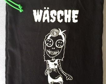 Mistress of all evil - laundry - black - white - rockabilly - psychobilly - laundry - doll - doll - creepy - creepy - bag - bag