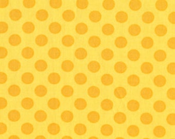Ta Dots, Sunny Ta Dot Yellow Fabric