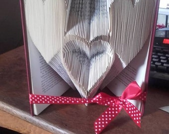 complete folded book love hearts