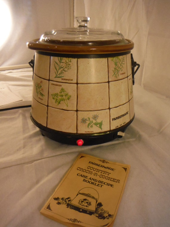 Farberware Country Crock R Cooker Slow Cooker Model 281