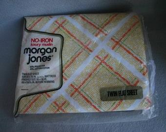 NOS Morgan Jones 1970's Twin Flat Sheet