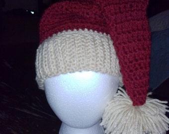 Santa hat, Christmas hat, Crochet Santa Hat, Crochet Christmas hat, Adult Christmas hat, Kids Christmas Hat, Santa Claus Hat