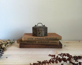 vintage brass potpourri box
