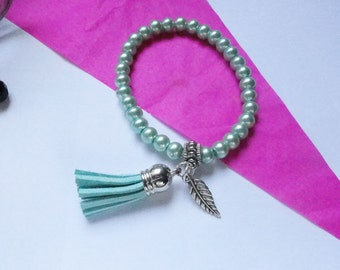 Bracelet beads mint