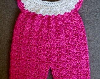 Crocheted Baby Girl Romper