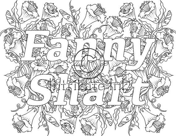 Fanny Shart Swear Coloring Page sweary Swear Word by ...