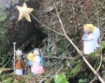Ange + Pegdoll nursery - Nativity / Christmas / inspired by Waldorf - Steiner